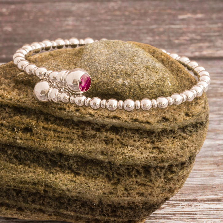 woman's memorial bracelet